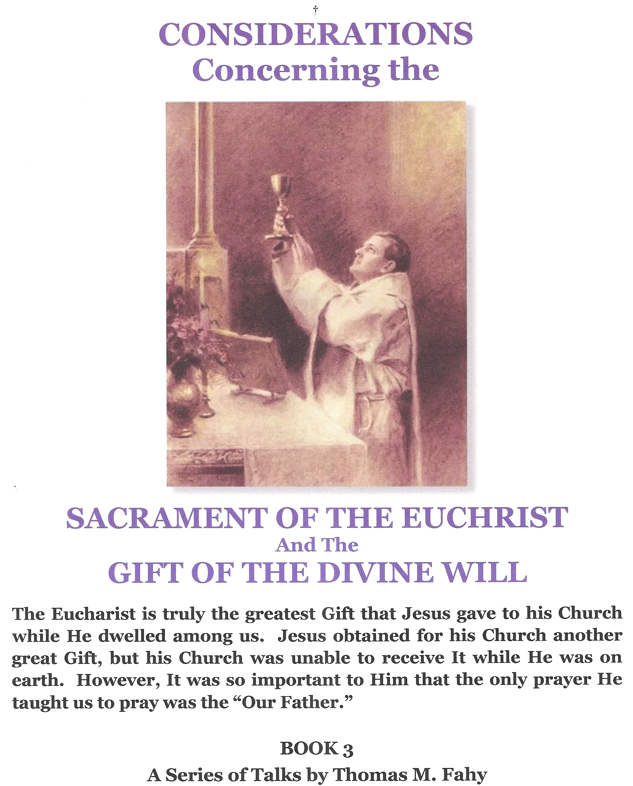 Considerations Concerning the Sacrament of the Euchrist