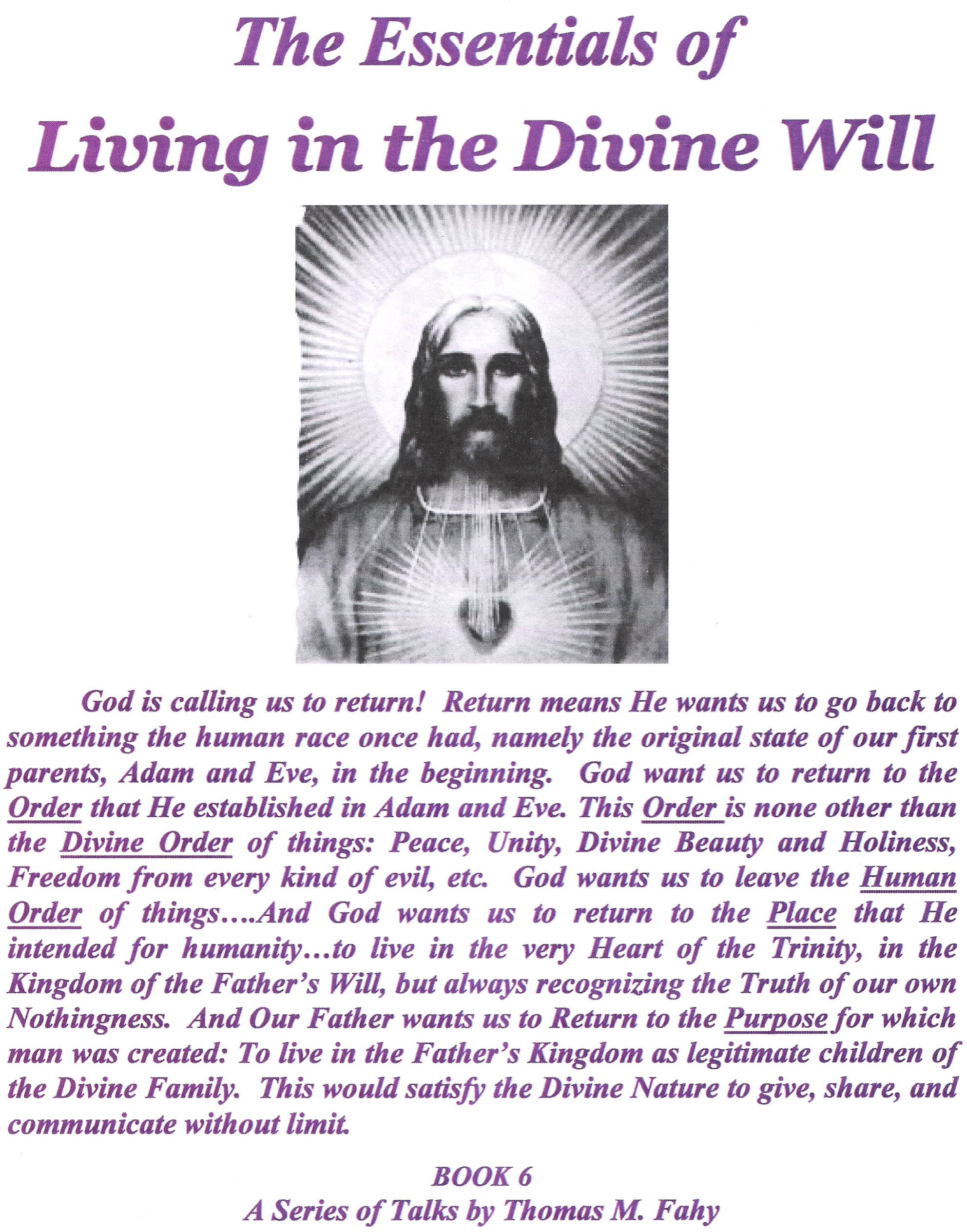 The Essentials of Living in Divine Will