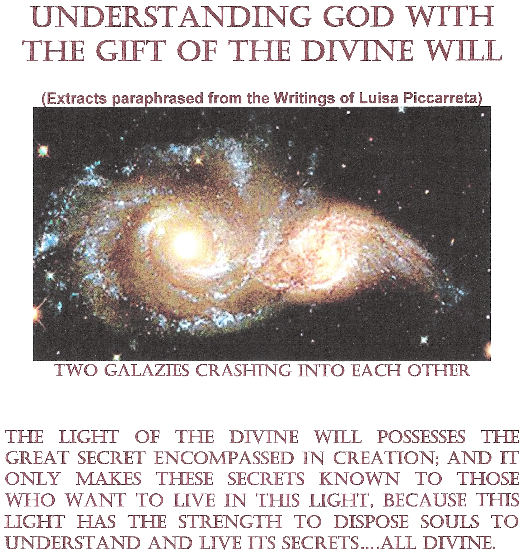 Understanding God with the Gift of The Divine Will